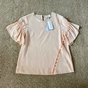 3.1 Phillip Lim Pink Silk Short Sleeve Top 4
